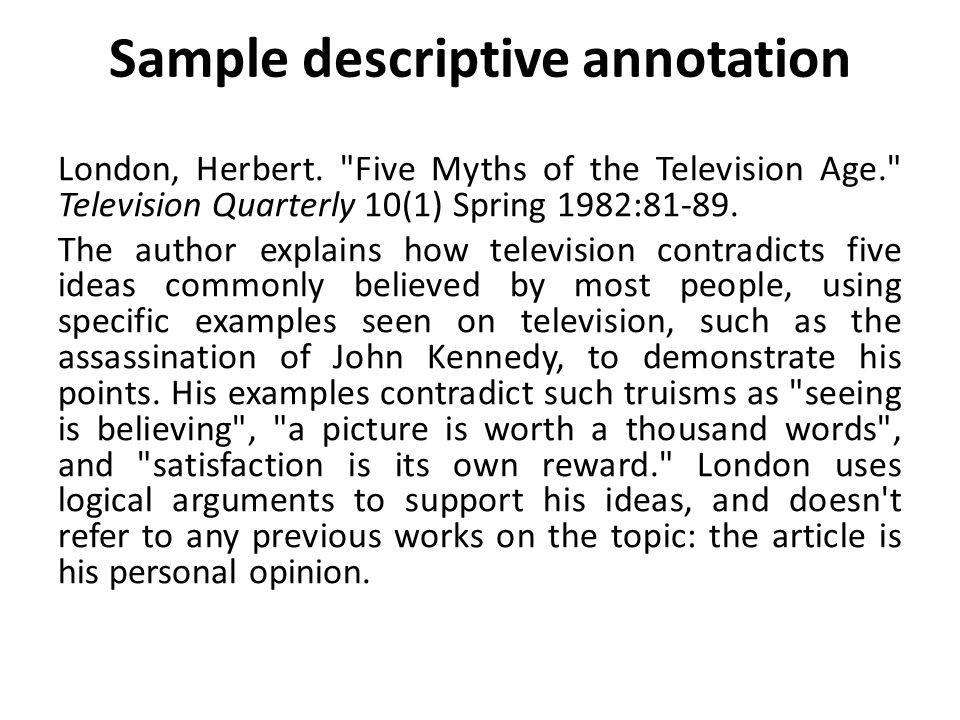 Descriptive annotation