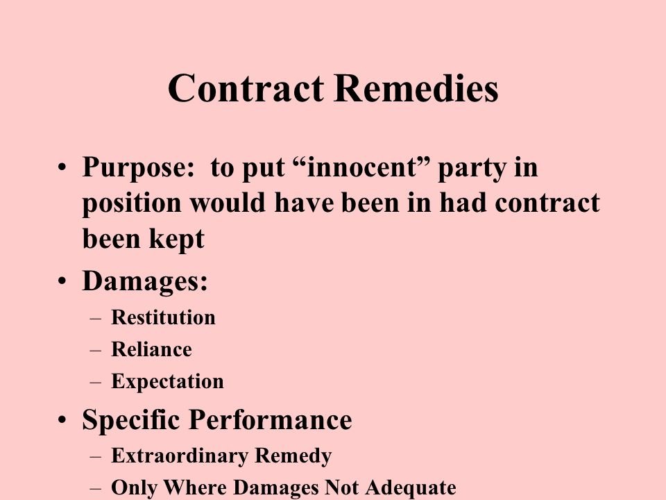 Contracts: Requirements For A Contract Agreement –Offer