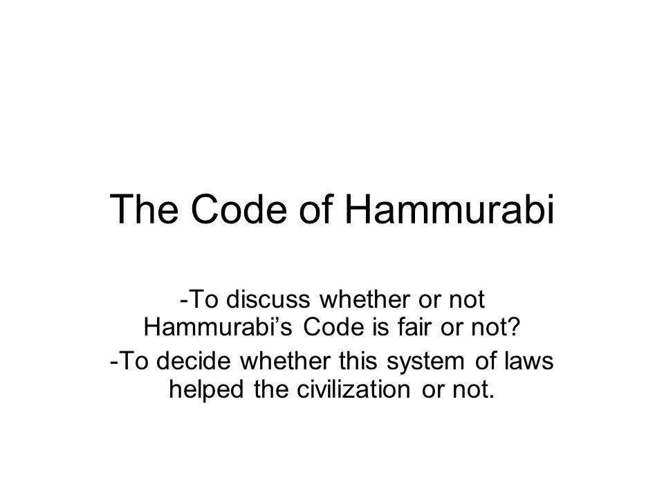 an overview of the hammurabis code of law What are some laws that show social classes in hammurabi's code what does hammurabis code reveal about why was the law code stele of.