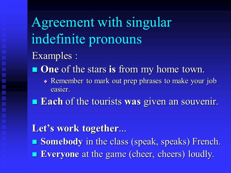 Indefinite Pronouns A pronoun that does not refer to a definite ...