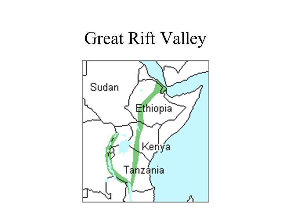 East Africa Famous Landforms Great Rift Valley Ppt Download - Africa map great rift valley