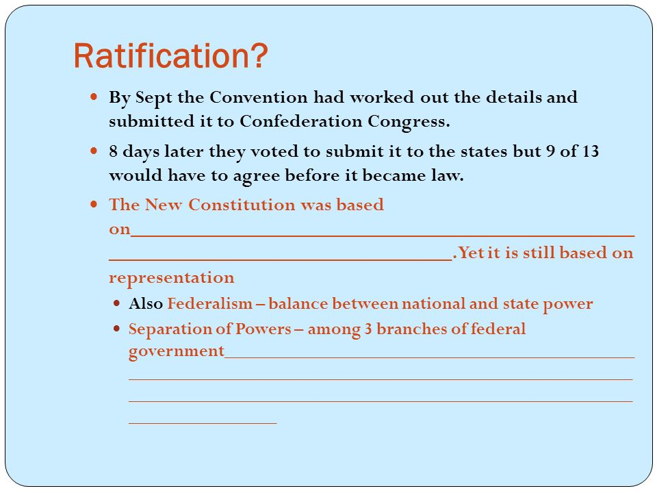Ratification.