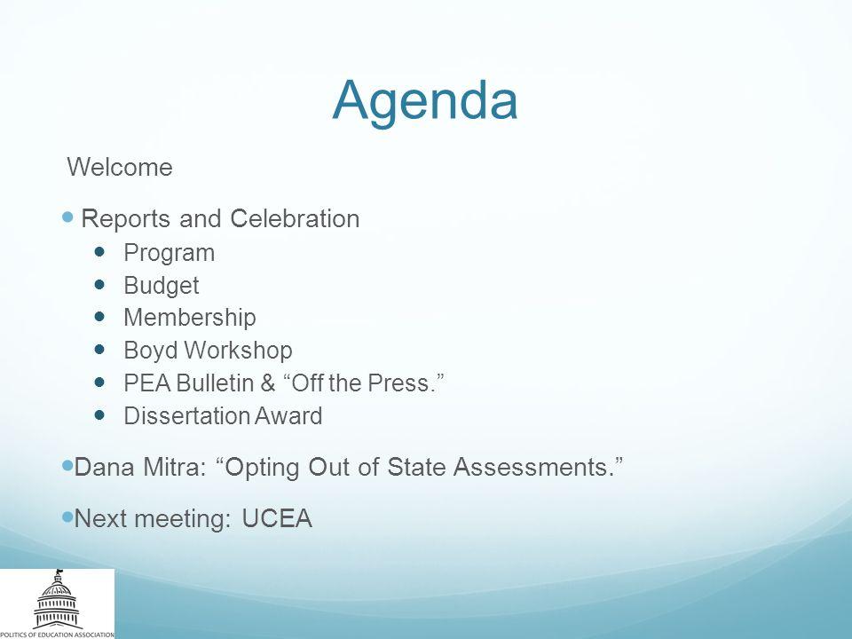 thesis committee meeting agenda
