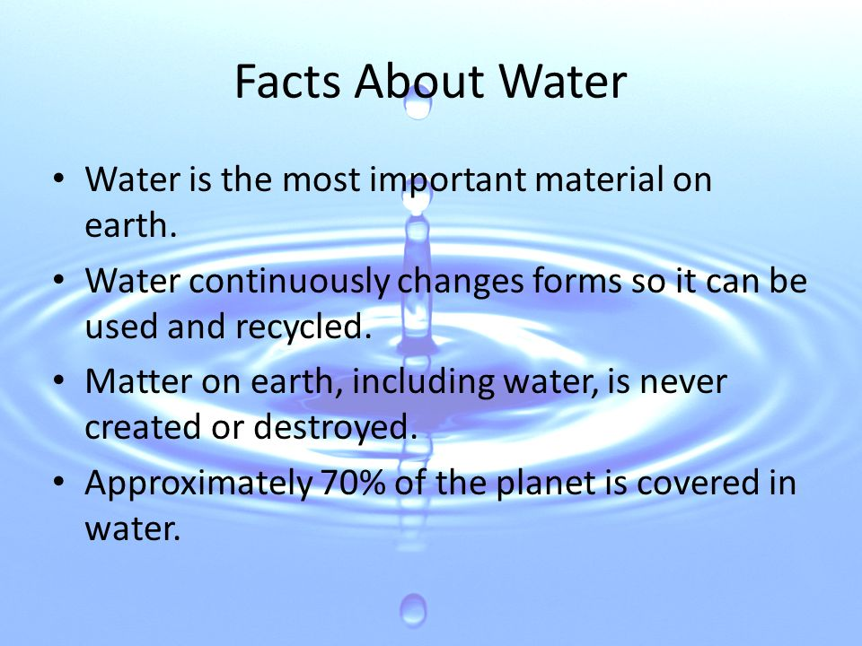 The Water Cycle 2 Facts