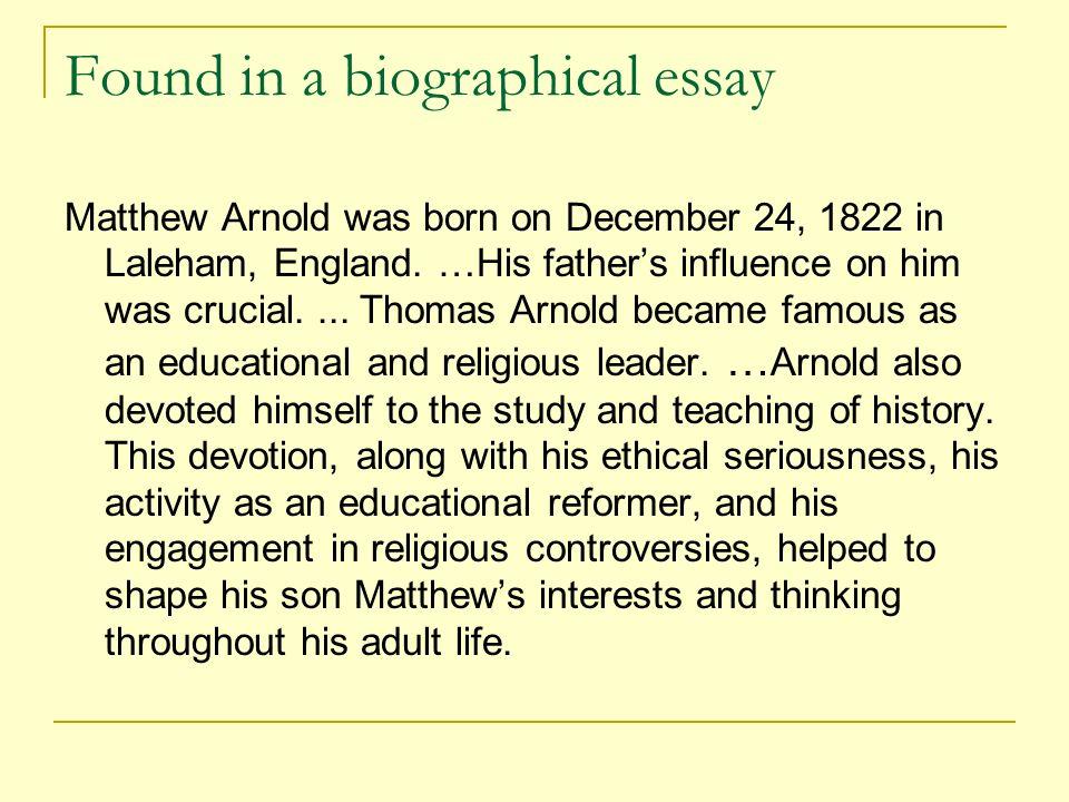 matthew arnold essay