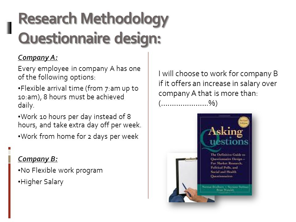 research methodology about questionnaire design psychology essay Free essay: the role of methodology in developmental research developmental psychology may be defined as a branch psychology devoted to understanding all.