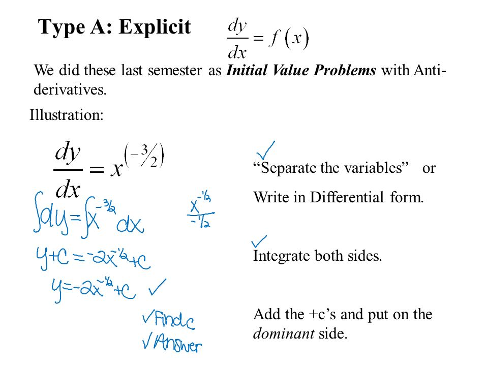 Differential Equations BC CALCULUS. Differential Equations Defn ...