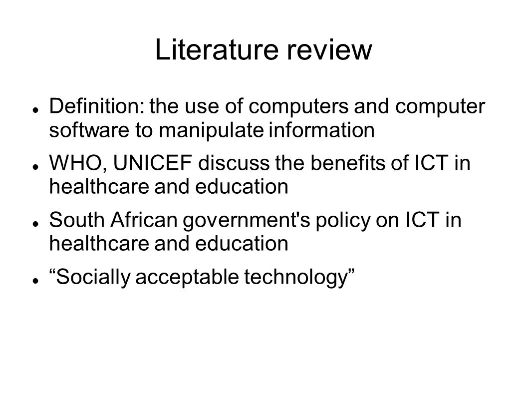 literature review on the impact of information and communication technology