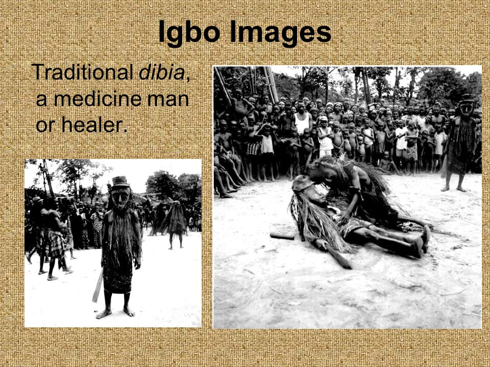 Igbo Images Traditional dibia, a medicine man or healer.