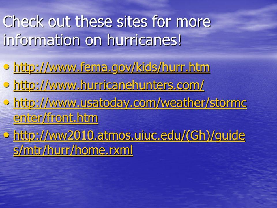 Hurricane Investigation. Where Do Hurricanes Form? Purpose ...