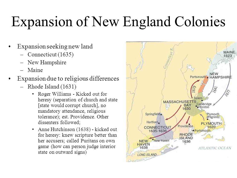 chesapeake bay vs massachusetts bay colonies