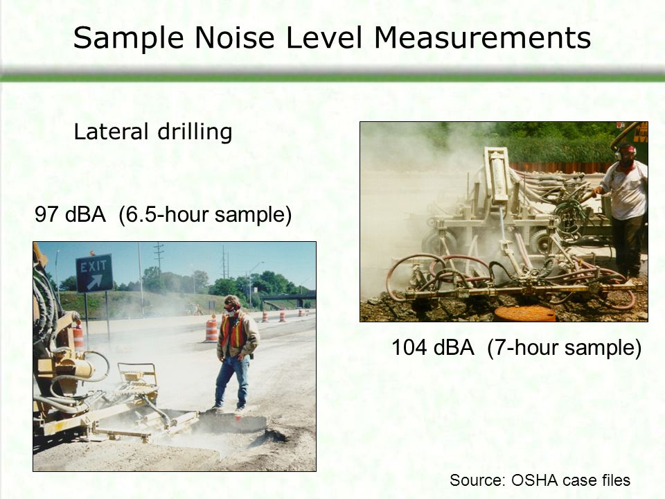 What are some OSHA regulations on noise levels?