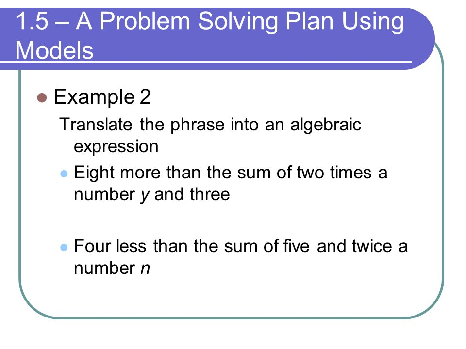 Ways To Solve Word Problems