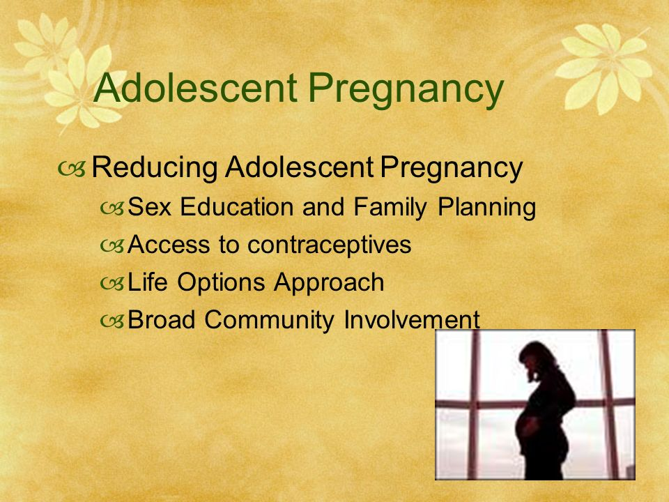 adolescence and topic teenage pregnancy Teenage pregnancy often has a negative impact on a teen's future teen mothers are less likely to graduate from high school and to attend college, are more likely to live in poverty, and are at risk of domestic violence.