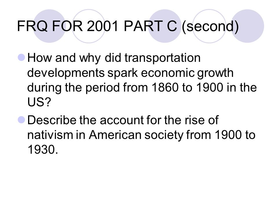 how and why did transportation developments spark economic growth during the period from 1860 to 190