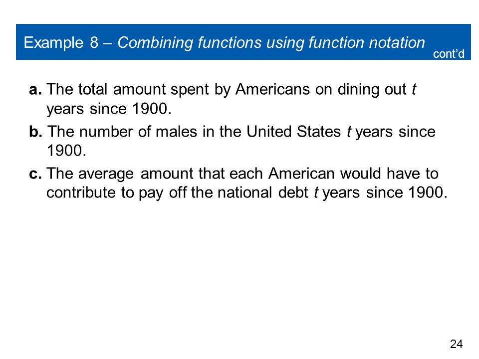 americans dining out