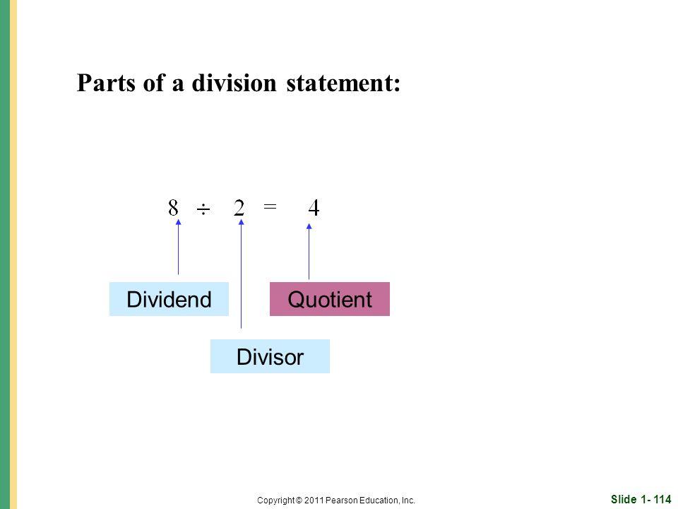 Slide 1- 114 Copyright © 2011 Pearson Education, Inc.