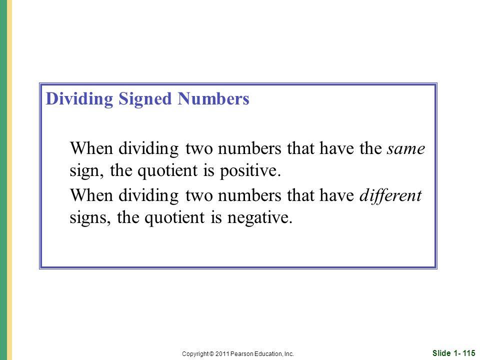 Slide 1- 115 Copyright © 2011 Pearson Education, Inc.