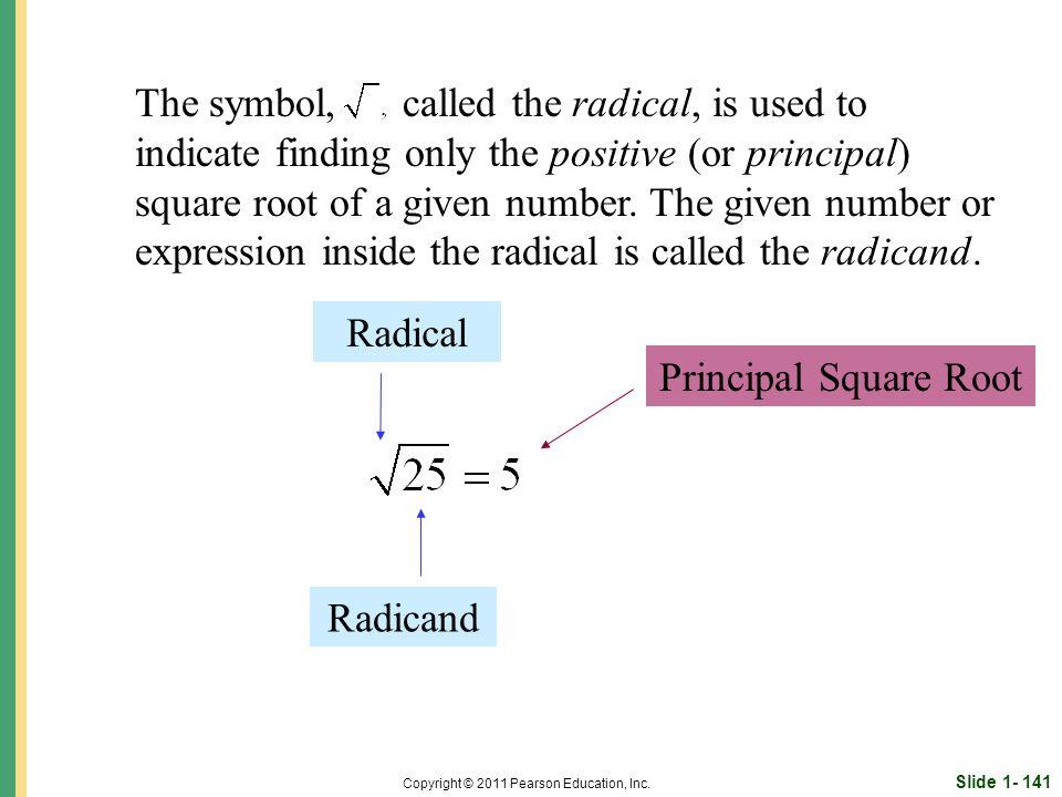 Slide 1- 141 Copyright © 2011 Pearson Education, Inc.