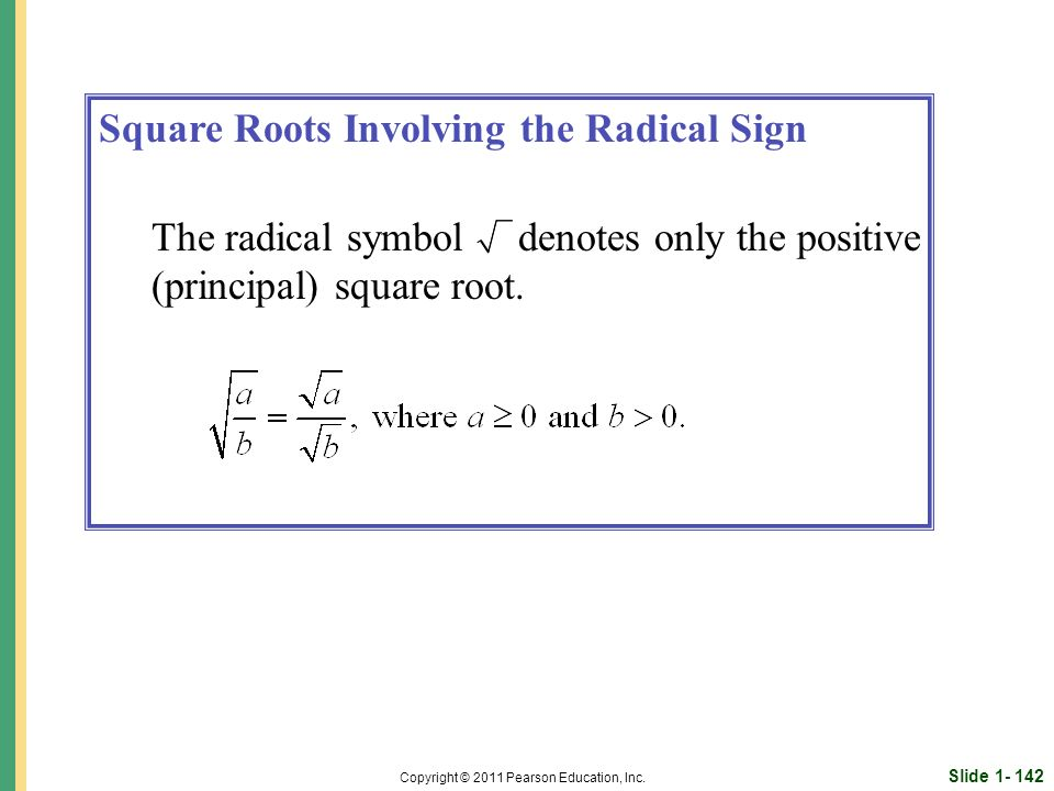 Slide 1- 142 Copyright © 2011 Pearson Education, Inc.