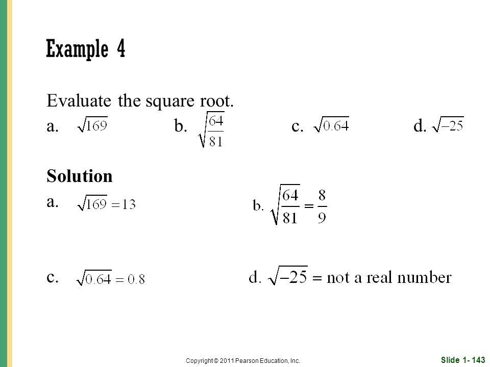 Slide 1- 143 Copyright © 2011 Pearson Education, Inc.