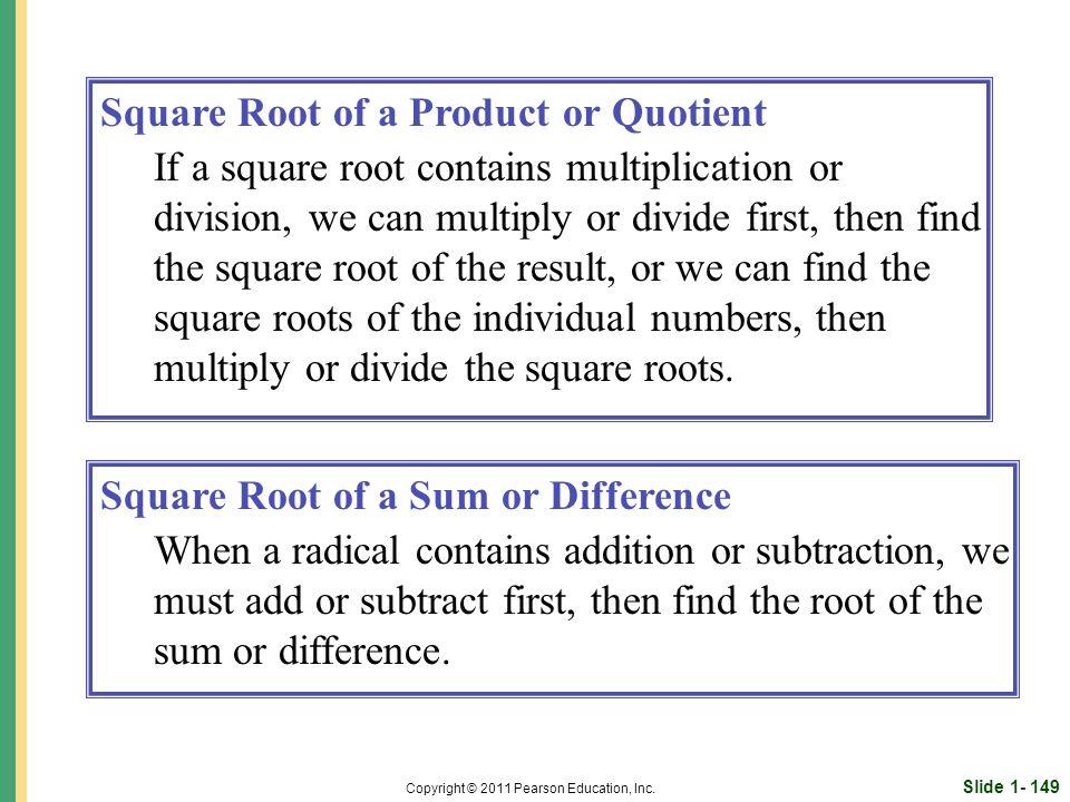 Slide 1- 149 Copyright © 2011 Pearson Education, Inc.