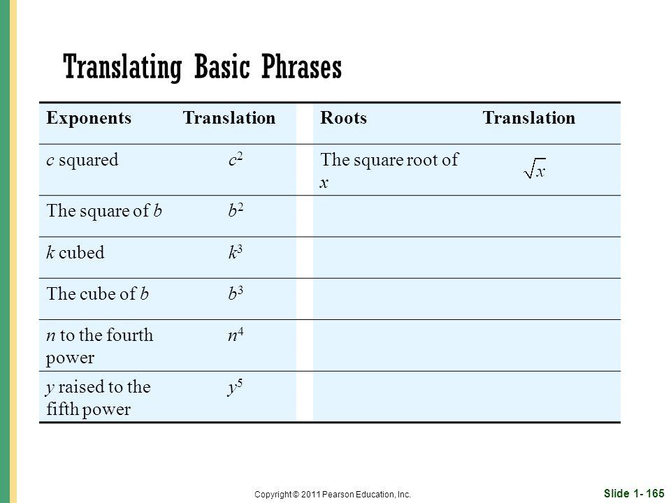 Slide 1- 165 Copyright © 2011 Pearson Education, Inc.