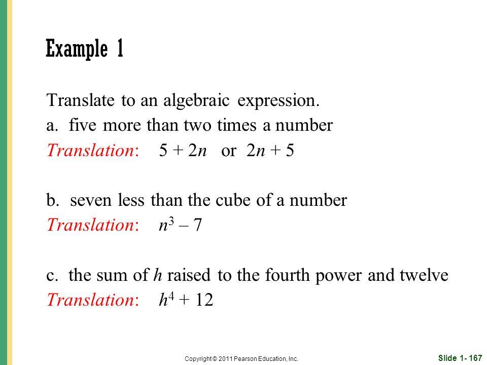 Slide 1- 167 Copyright © 2011 Pearson Education, Inc.