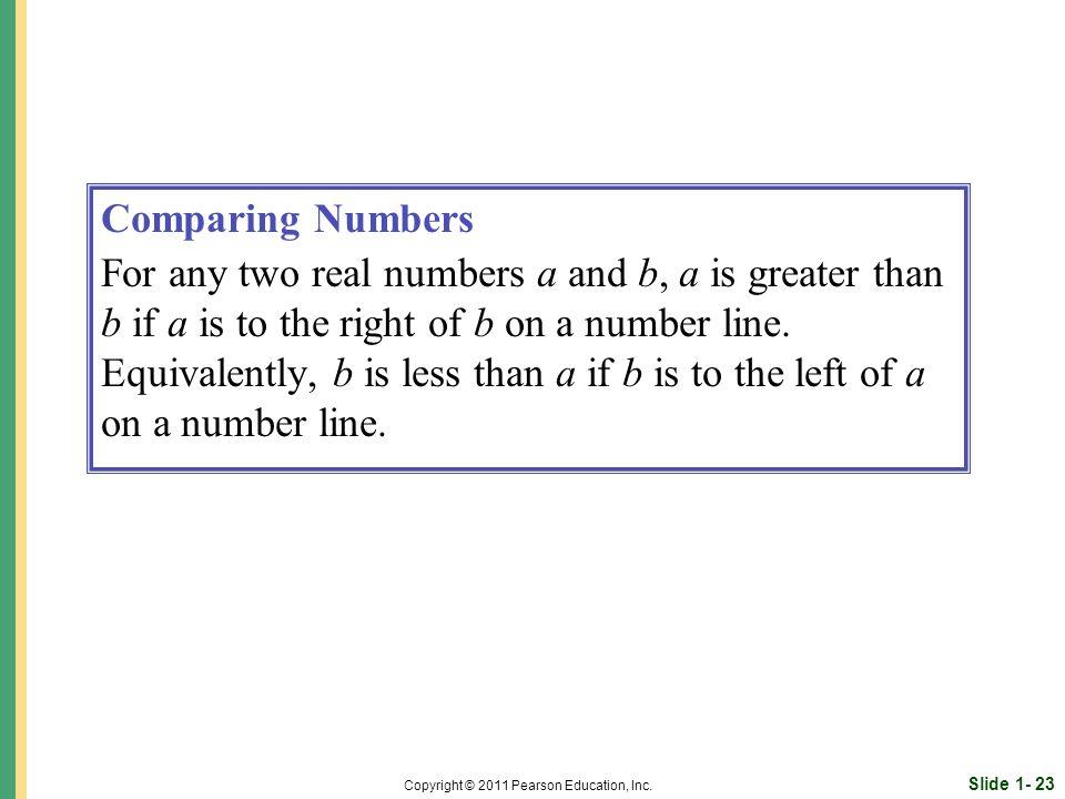 Slide 1- 23 Copyright © 2011 Pearson Education, Inc.