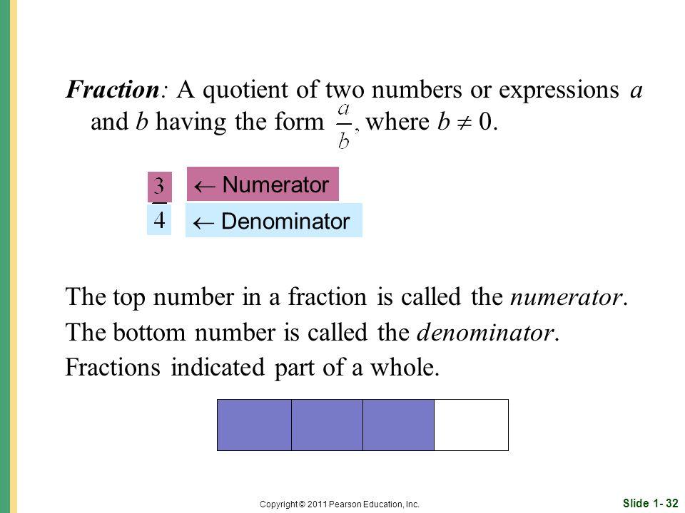 Slide 1- 32 Copyright © 2011 Pearson Education, Inc.