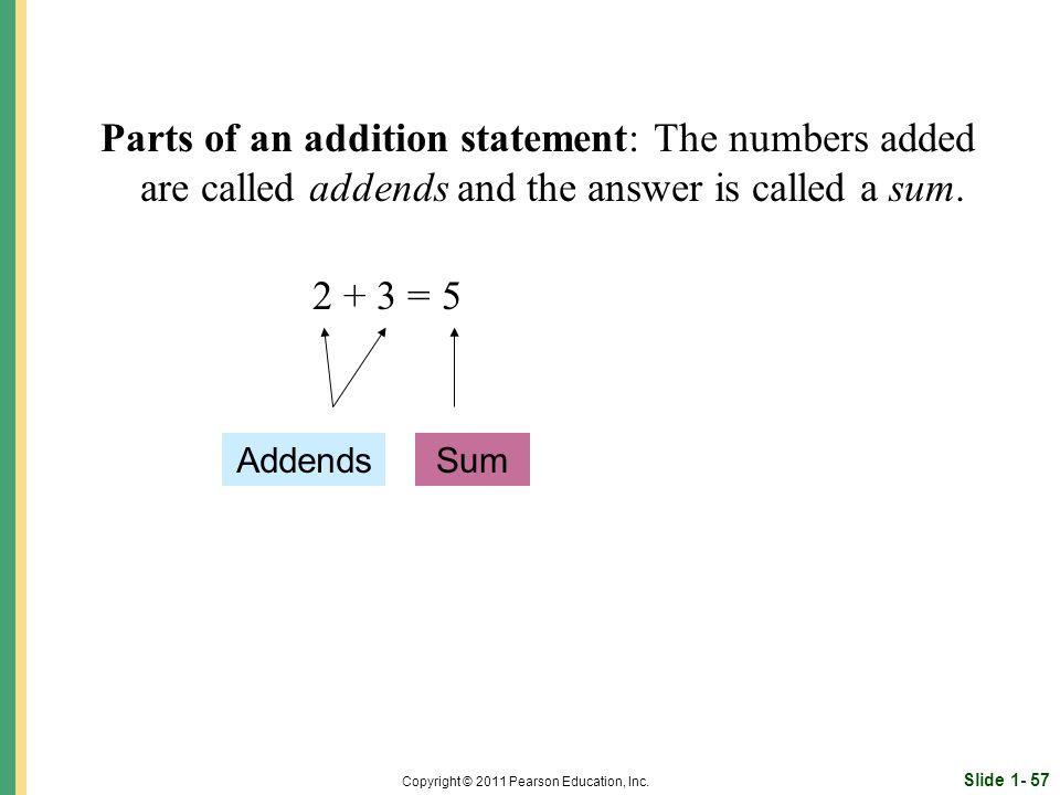 Slide 1- 57 Copyright © 2011 Pearson Education, Inc.