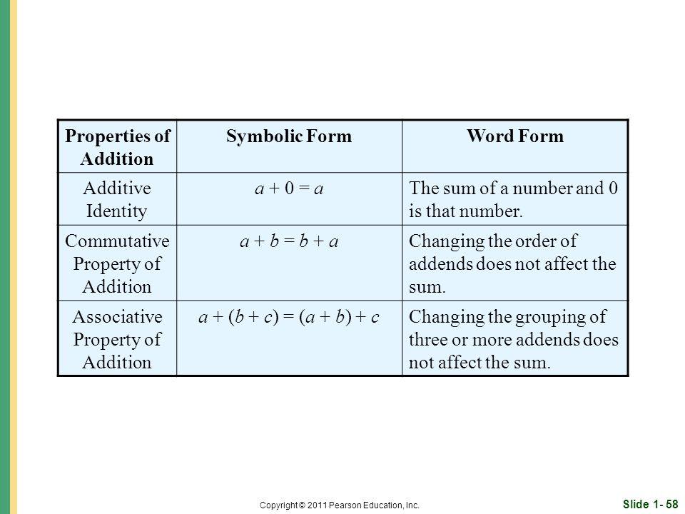 Slide 1- 58 Copyright © 2011 Pearson Education, Inc.