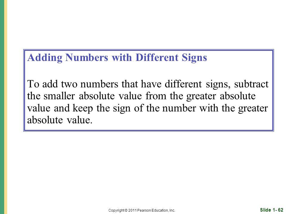 Slide 1- 62 Copyright © 2011 Pearson Education, Inc.