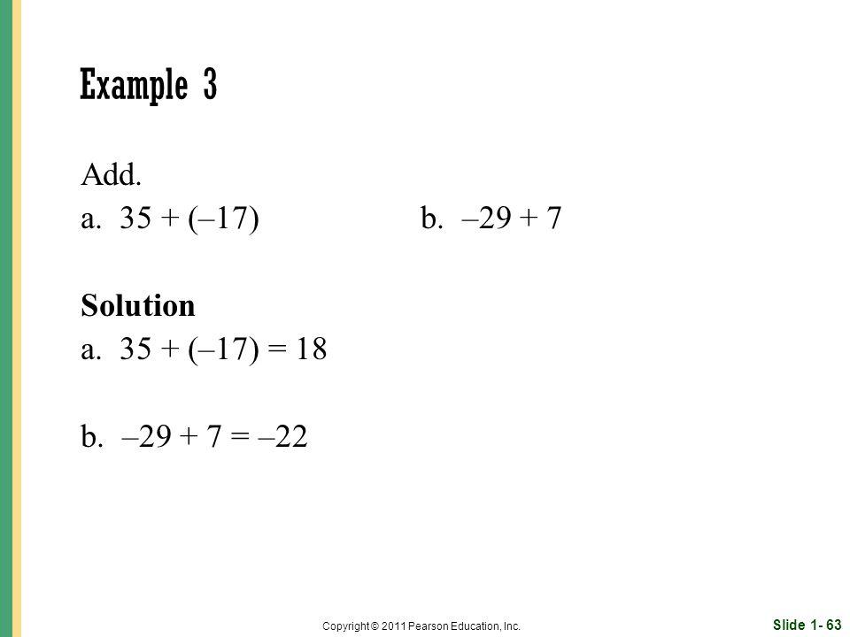 Slide 1- 63 Copyright © 2011 Pearson Education, Inc.