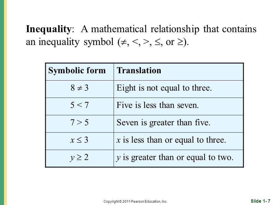 Slide 1- 7 Copyright © 2011 Pearson Education, Inc.