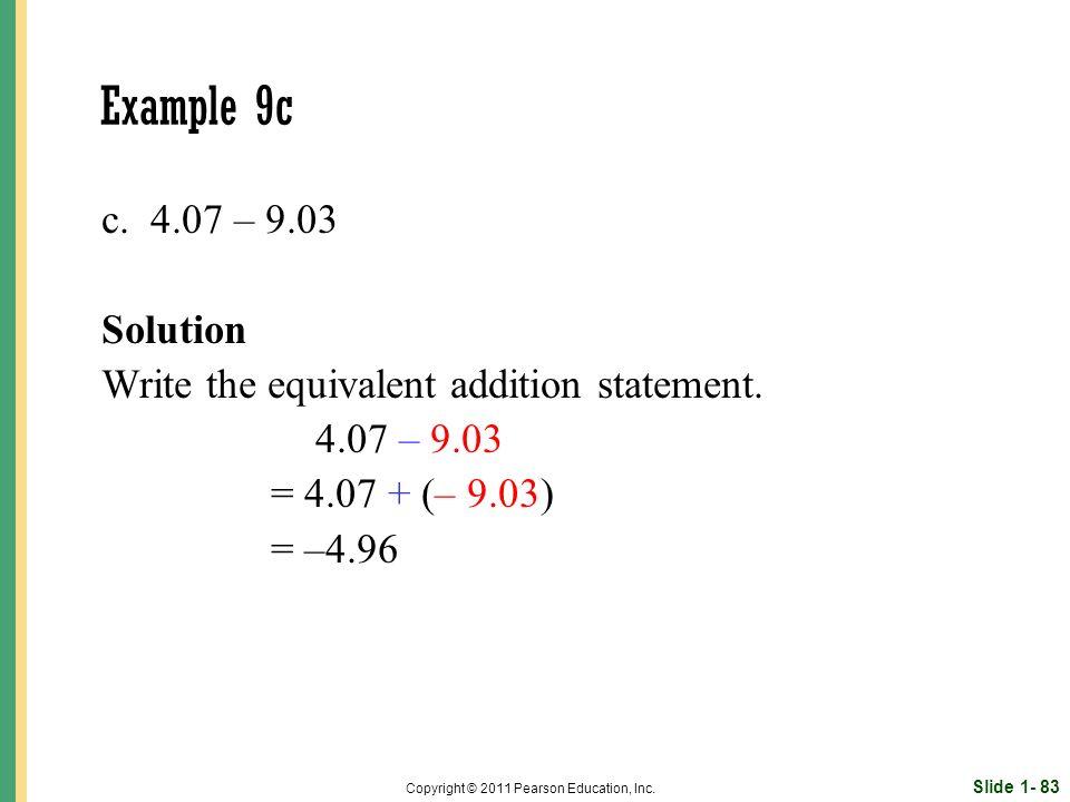 Slide 1- 83 Copyright © 2011 Pearson Education, Inc.