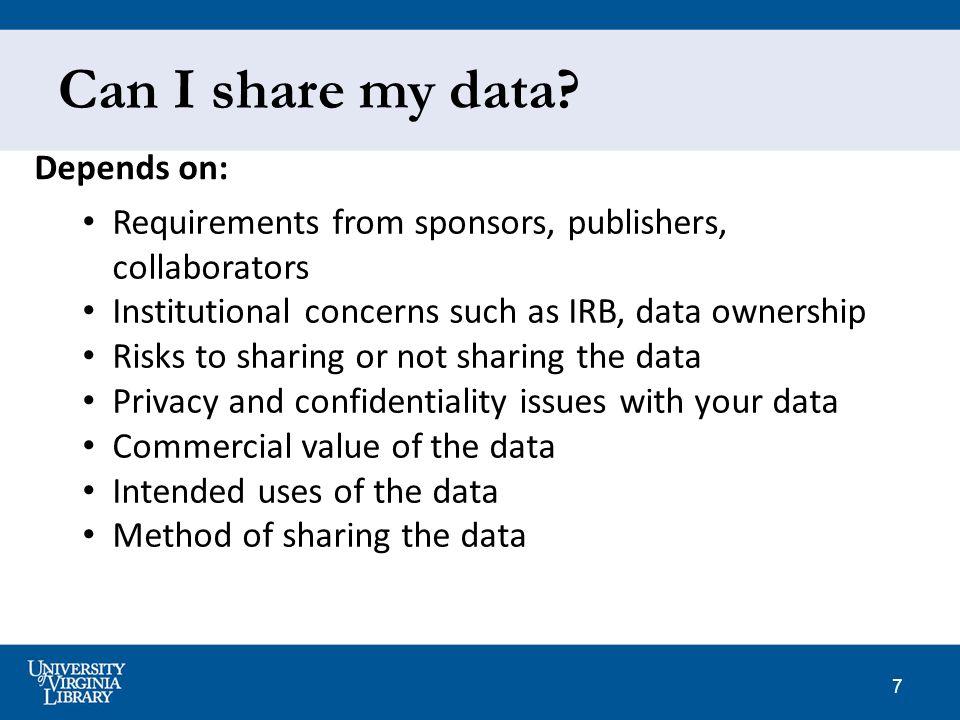 7 Can I share my data.