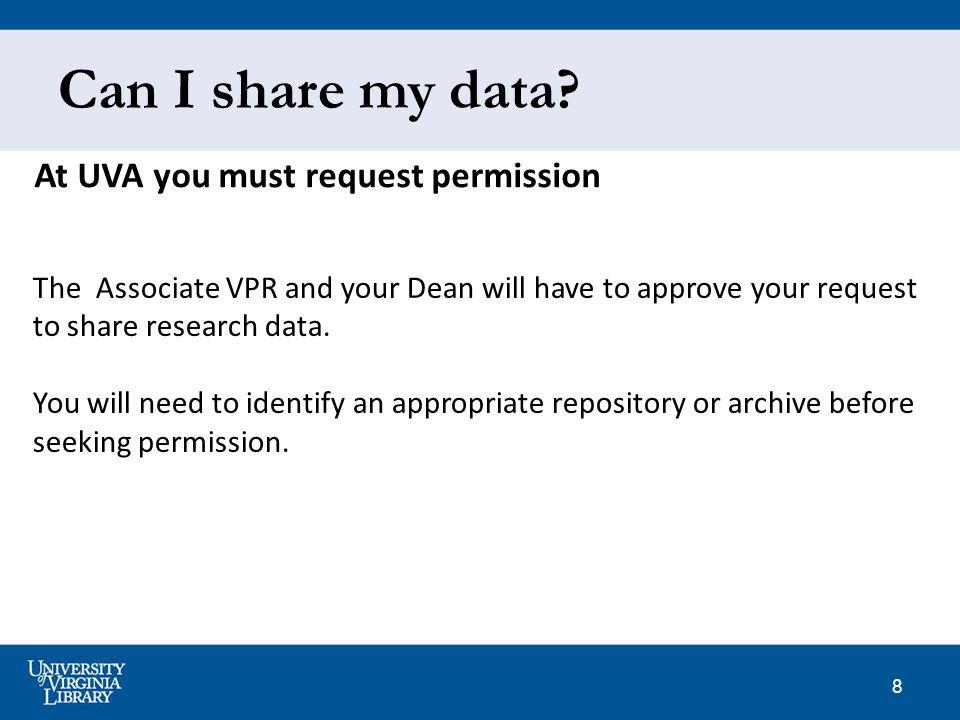 8 Can I share my data.