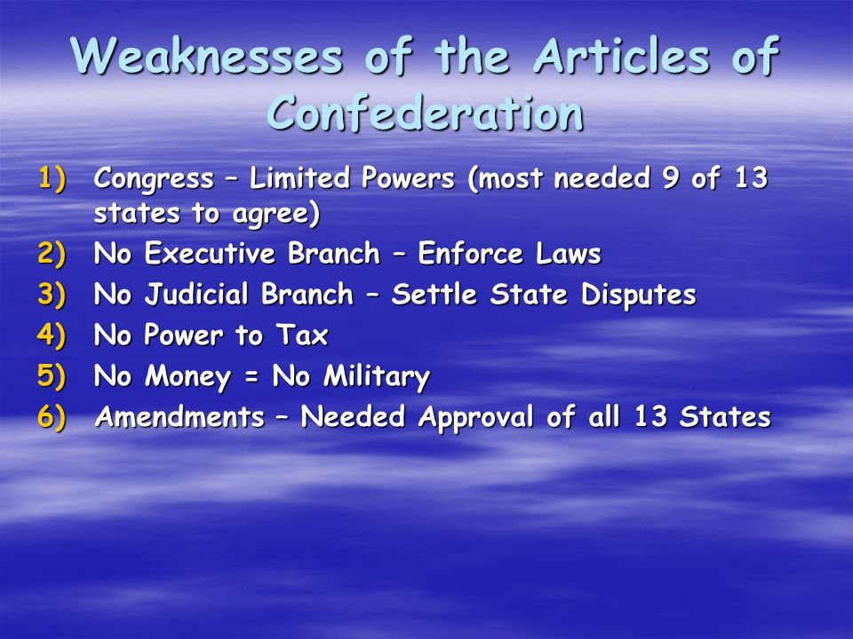 strengths and weaknesses of american constitutional system Strengths and weakness of the american the system's strengths and weaknesses i would like to offer a broad concept of the american constitutional system.