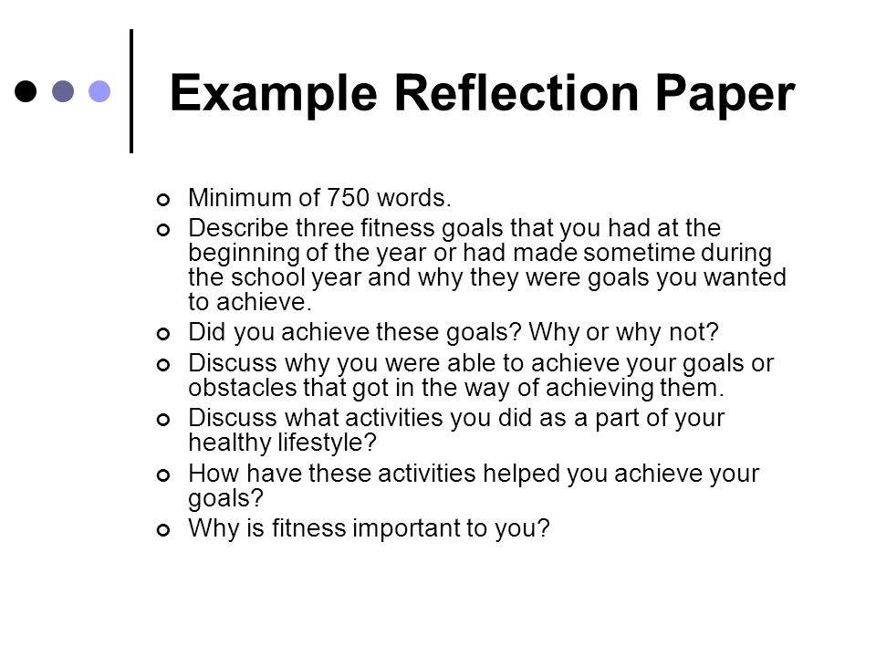 to write a reflection paper video lesson writing a reflection essay