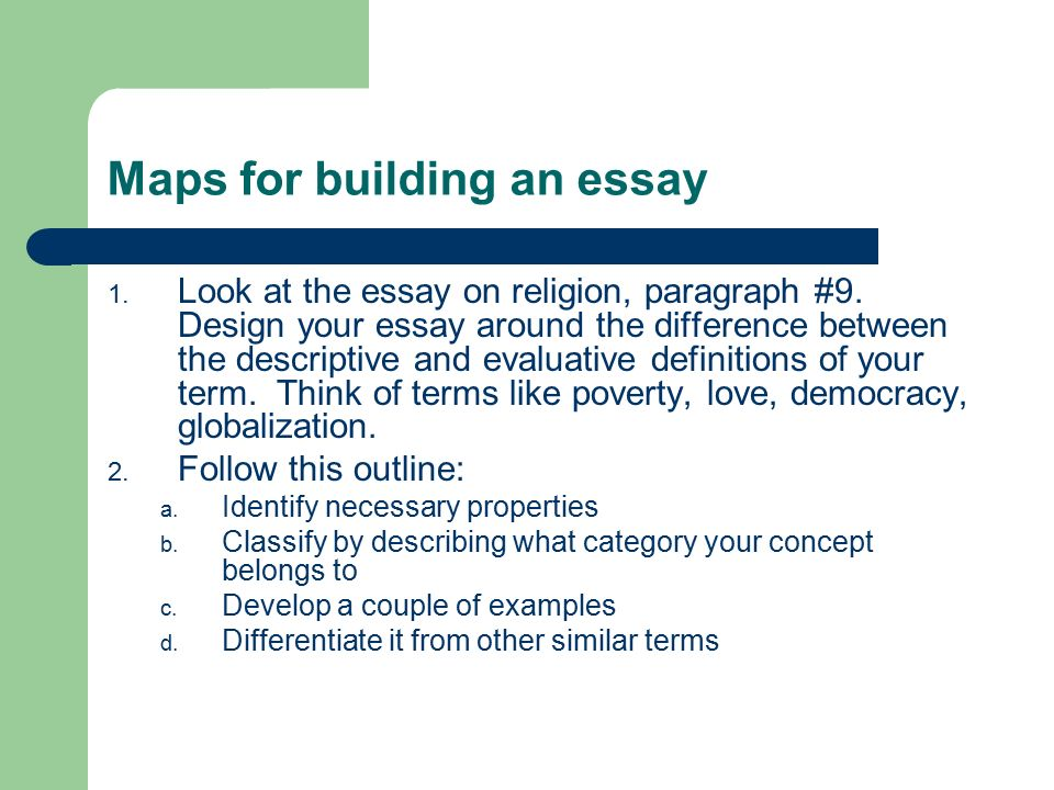Concept essay ideas