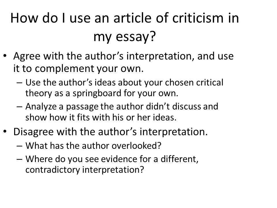 How do i start my literary analysis essay