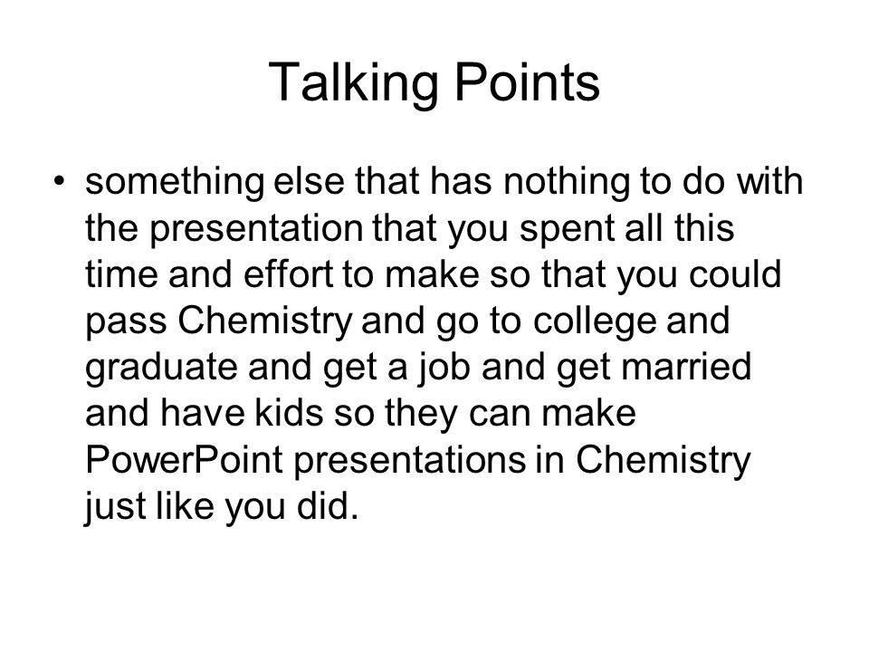 powerpoint for chemistry mr wallace general concepts tell a  6 talking