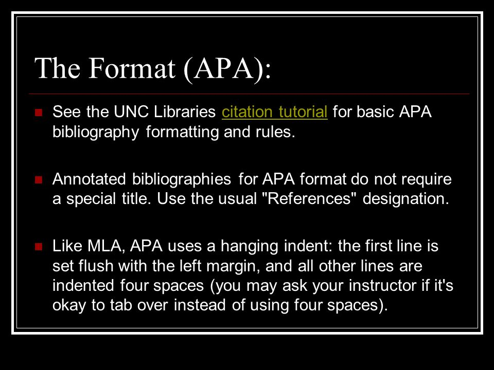 bibliography in apa format maker The citation builder is based on the following citation manuals: american psychological association 6th edition modern language association 7th edition.