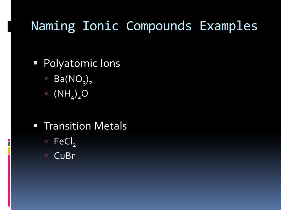 Chemistry Transition Metals Can Have More Than One Charge