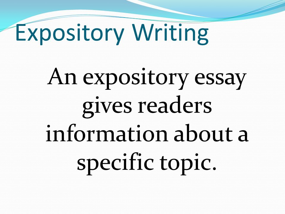 Outline For Expository Essay