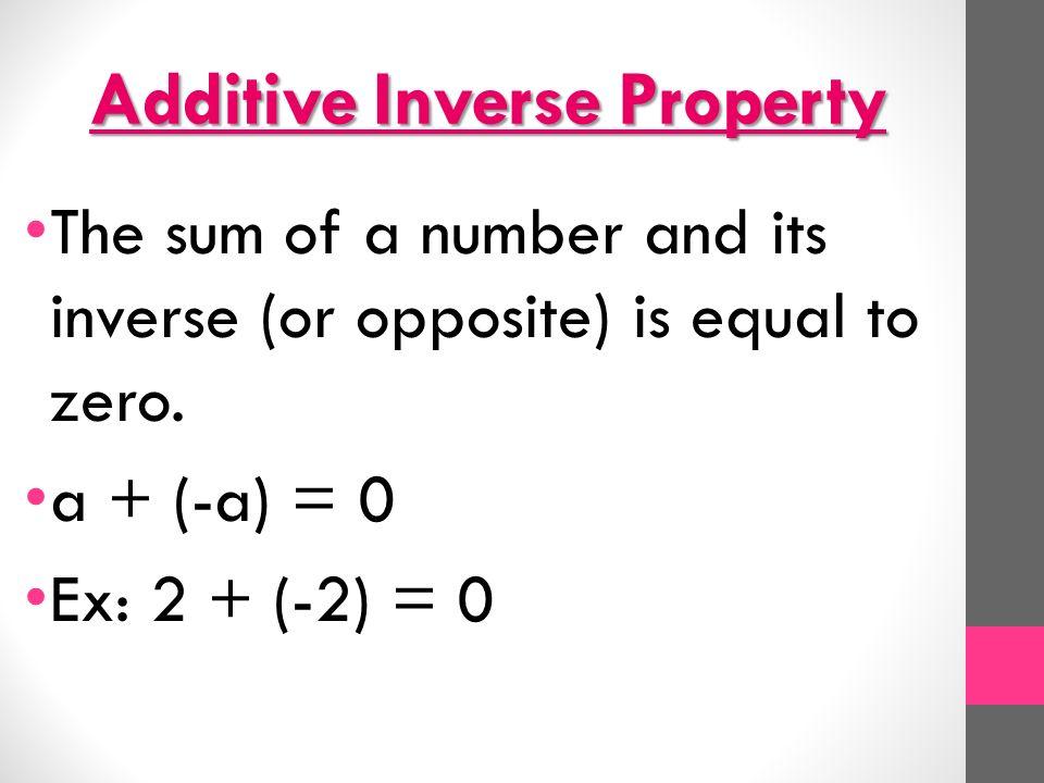 Additive Multiplicative Inverse Worksheets identity math – Additive Inverse Worksheet