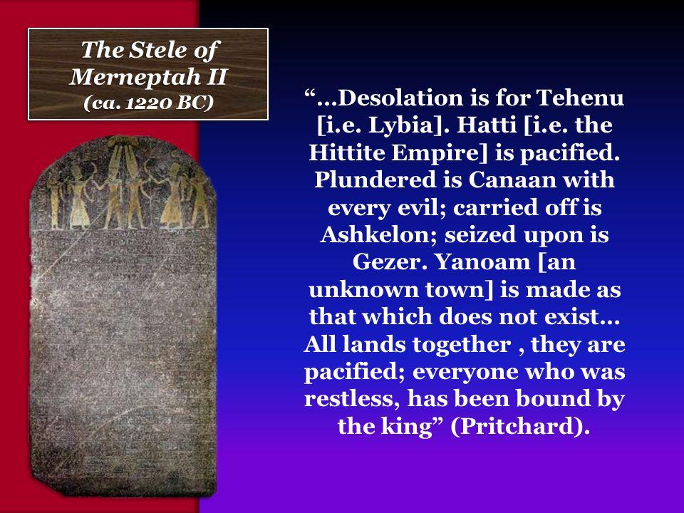 merneptah stele essay