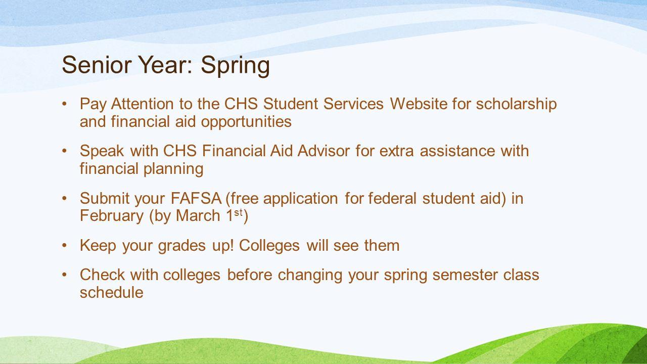 college planning timeline when should i do what ppt 7 senior