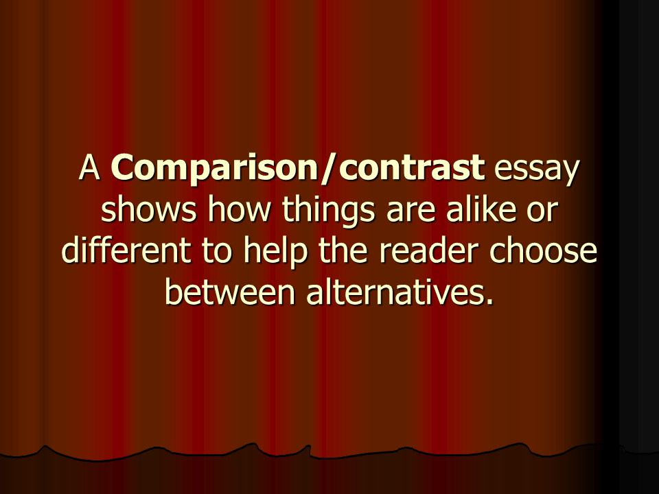 compair contrast essay How to do a compare and contrast essay outline click to see example the content of a compare and contrast essay is about two different, yet relatively related entities which are critically analyzed on the basis of their similarities or differences.